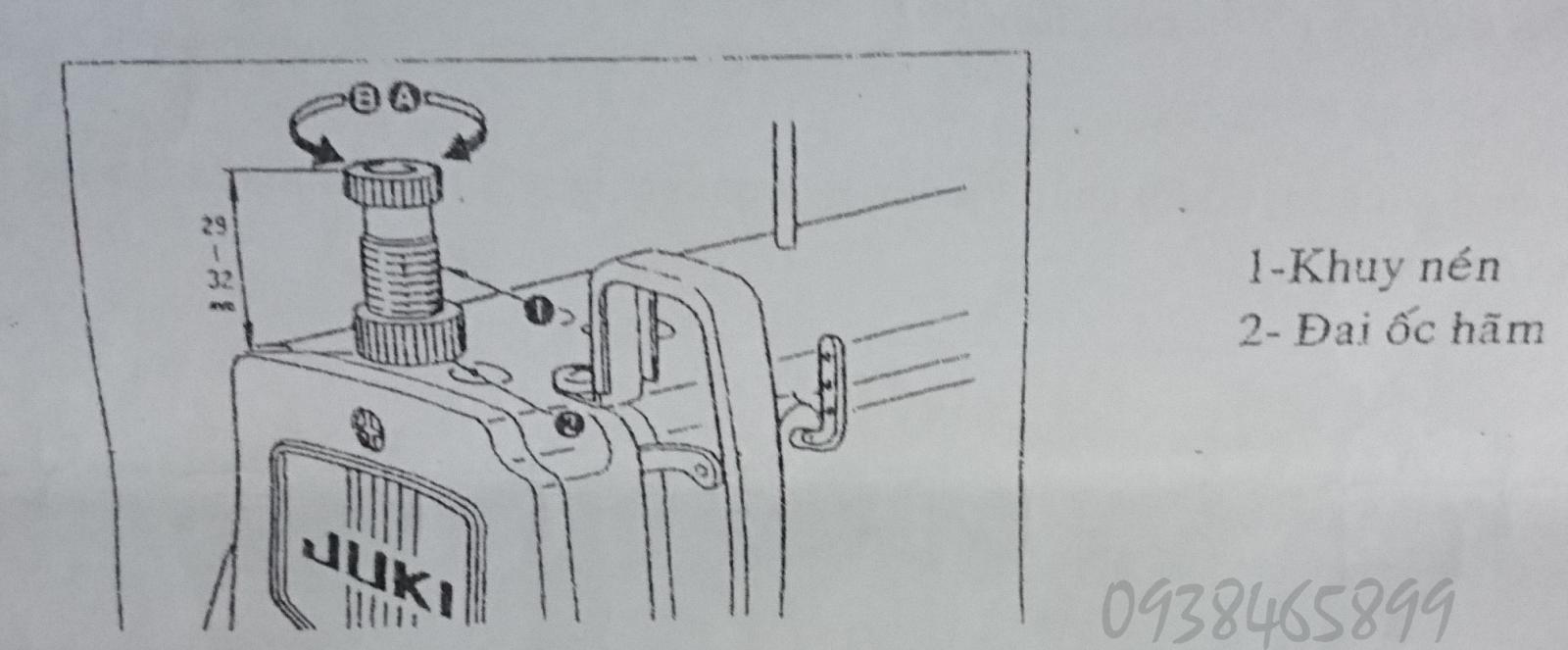 Điều chỉnh lực nén máy may