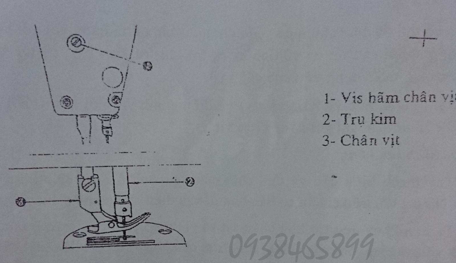 Điều chỉnh lực chân vịt máy may