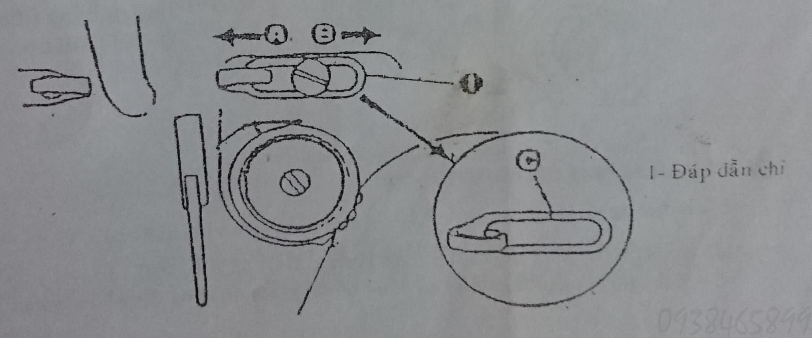 Cò đáp chỉ của máy may một kim